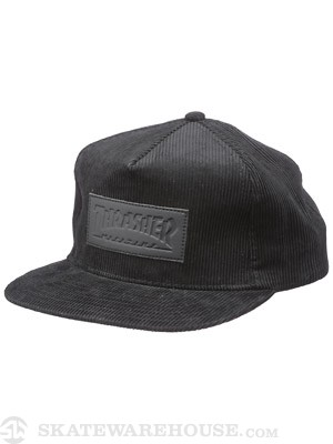 Thrasher Corduroy Patch Snapback Hat Black
