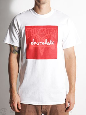 Thrasher x Chocolate Skate Goat Tee White SM