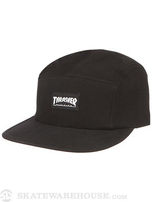 Thrasher Logo 5 Panel Hat Black
