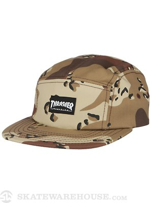 Thrasher Logo 5 Panel Hat Desert Camo
