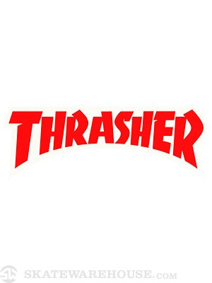 Thrasher Logo Die Cut Sticker  Red