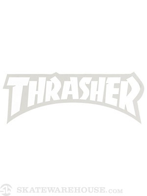 Thrasher Logo Die Cut Sticker  White