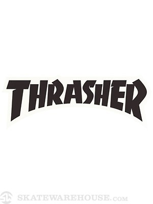 Thrasher Logo Die Cut Sticker  Black