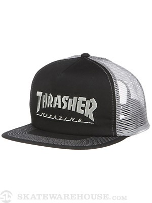 Thrasher Logo Mesh Hat Black/Grey