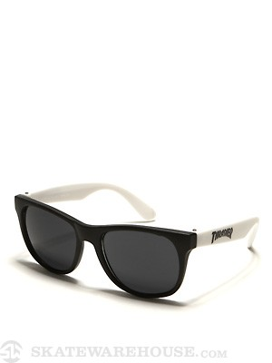 Thrasher Logo Sunglasses White