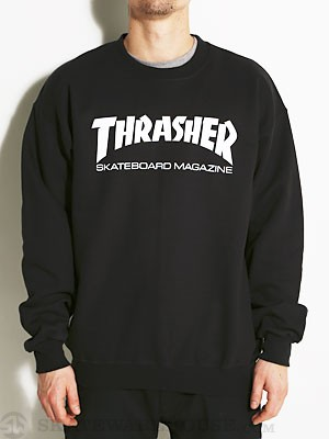 Thrasher Skate Mag Crewneck Sweatshirt Black MD