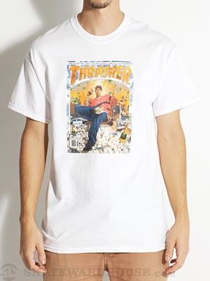 Thrasher BA No Limit Tee White SM