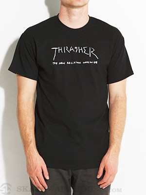 Thrasher New Religion Worldwide Tee Black LG