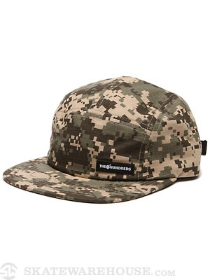 The Hundreds Pixelate 5 Panel Hat Khaki