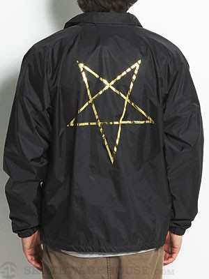 Thrasher Pentagram Coach Jacket Black SM