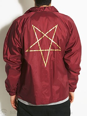 Thrasher Pentagram Coach Jacket Maroon LG