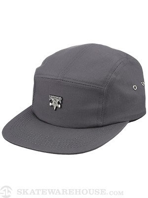 Thrasher Skate Goat Pin 5 Panel Hat Grey