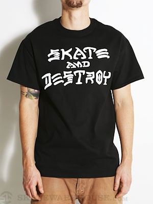 Thrasher Skate and Destroy Tee Black SM