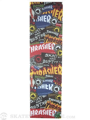 Thrasher Sticker Collage Griptape by Mob