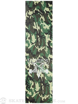 Thrasher Skate Goat Green Camo Griptape by Mob