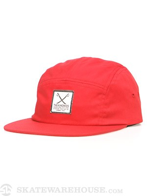 The Hundreds Will 5 Panel Hat Red