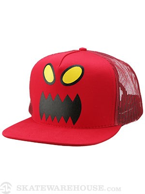 Toy Machine Monster Face Mesh Hat Red Adj.
