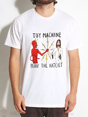 Toy Machine Bury The Hatchet II Tee White SM