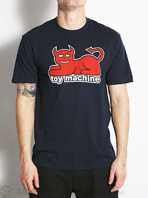 Toy Machine Devil Cat Tee Navy SM