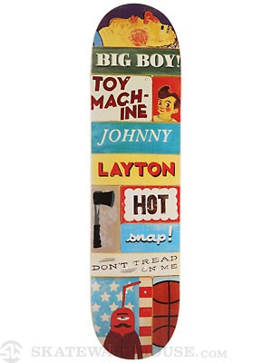 Toy Machine Layton Signs Deck 7.875 x 31.125