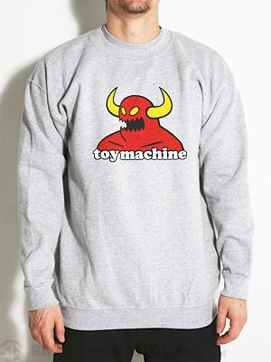 Toy Machine Monster Sweatshirt Heather Grey MD