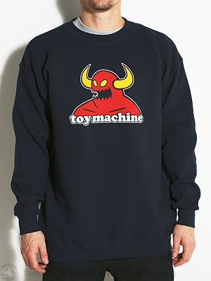 Toy Machine Monster Crew Sweatshirt Navy MD