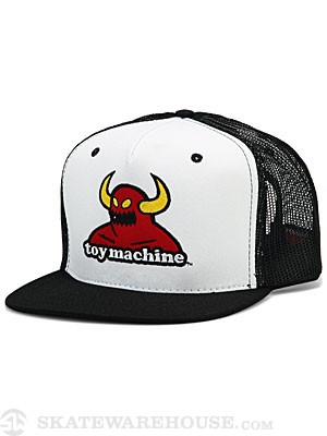 Toy Machine Monster Mesh Hat White/Black Adj.