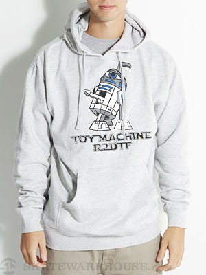 Toy Machine R2DTF Hoodie Heather Grey SM