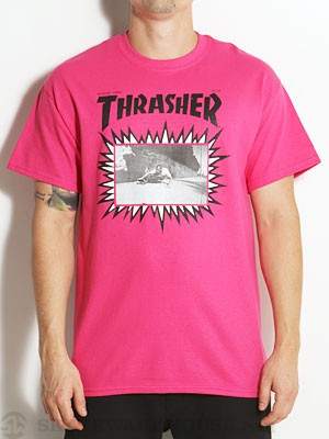 Thrasher Jay Adams Explosive Cover Tee Pink MD