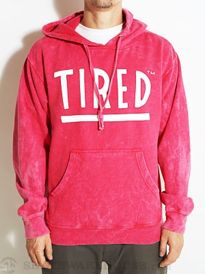 Tired Logo Vintage Wash Hoodie Red SM