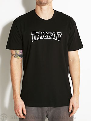 Threat by Zero Thrash Tee Black MD