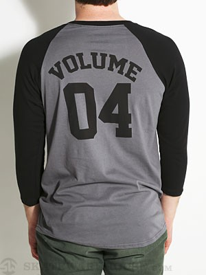 Vol 4 04 Baseball Tee Charcoal/Black SM