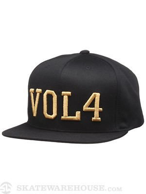 Vol 4 Gilded Snapback Hat Black/Gold Adj.