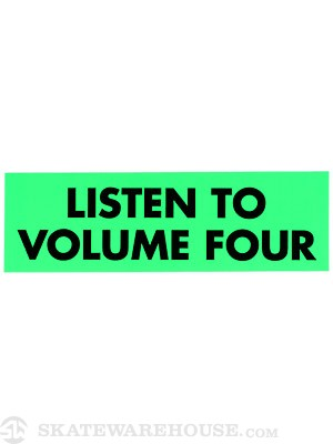 Vol 4 Listen To Sticker GREEN
