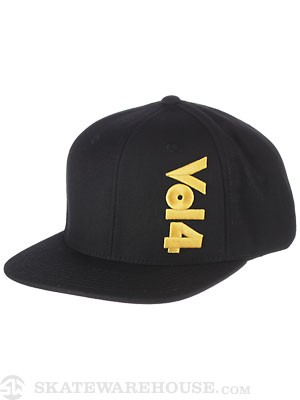 Vol 4 Sideways Snapback Hat Black/Yellow Adj.