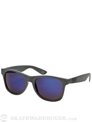 Vans Spicoli 4 Sunglasses Matte Grey/Blue Mirror