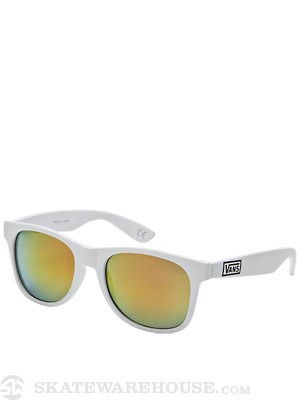 Vans Spicoli 4 Sunglasses Matte White/Red Mirror