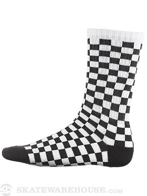 Vans Checkerboard Crew Socks Black 10-13