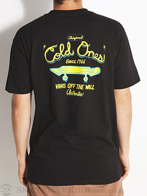 Vans Cold Ones Tee Black MD