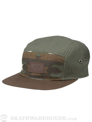 Vans Davis 5 Panel Camper Hat Native Camo Adj.