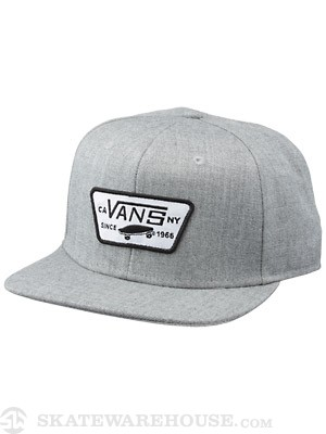 Vans Full Patch Snapback Hat Heather Grey