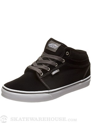 Vans Kids Chukka Mid Shoes  Black/White/Pewter