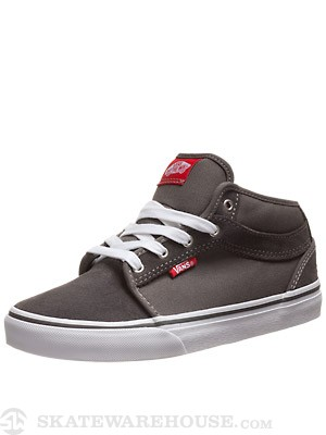 Vans Kids Chukka Mid Shoes  Pewter/Neon Red