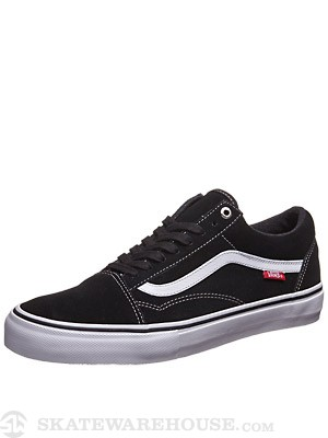 Vans Old Skool Pro Shoes  Black/White/Red
