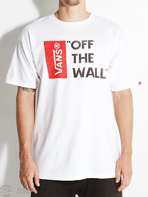 Vans Off The Wall Tee White LG