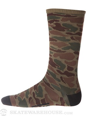 Vans Willits Crew Socks Camo 10-13