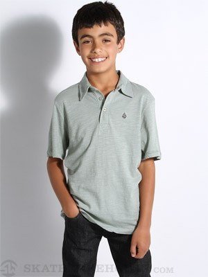 Volcom Bangout Slub Kids Polo Grey/Blue XL