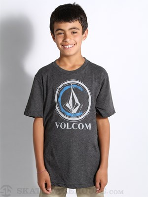 Volcom Circle Stain Kids Tee Black YXL