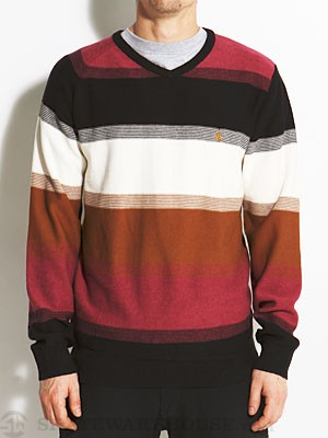 Volcom Standard Stripe Sweater Plum/PLM MD