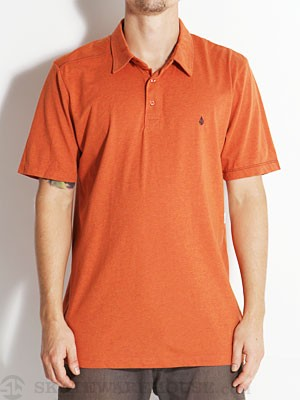Volcom Blackout Polo Shirt Burnt Sienna LG